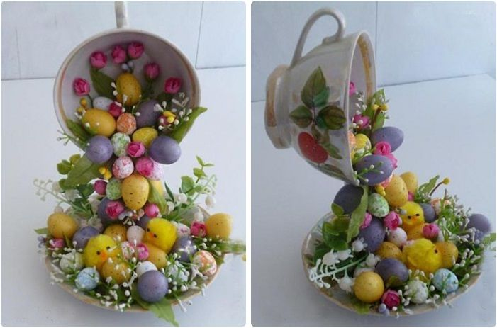 DIY-home-decor-crafts-easter-eggs-chicks-artificial-flowers.