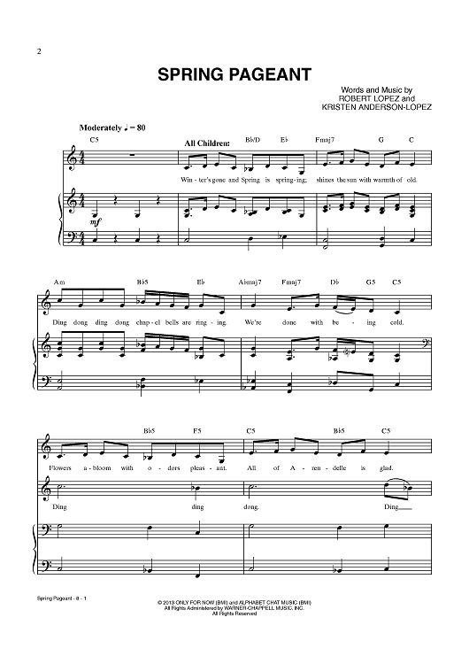 """Spring Pageant"" from 'Frozen' Sheet Music: www.onlinesheetmusic.com"