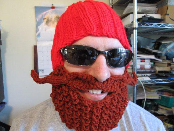 Yukon Cornelius Beard Hat Beard Beanie Crochet Hat By