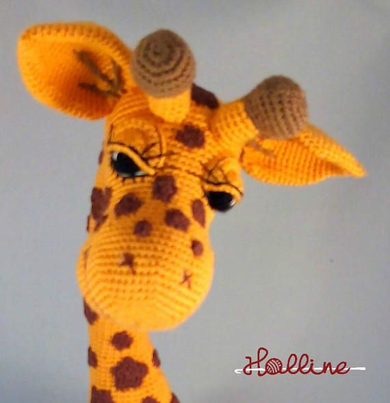 This easy-to-follow pattern includes one PDF file with detailed instructions on how to crochet and assemble all the parts to make this giraffe.  Only basic crocheting skills will be needed: chain, single crochet, increasing and decreasing.  Pattern available in english, dutch and german  If you have seen the giraffes from Hippe Haaksels (Dana). She used alize cotton gold. One strand on hook 2.0mm and double strand on hook 3.5mm  You can make this giraffe in all sizes. Either take heavier…