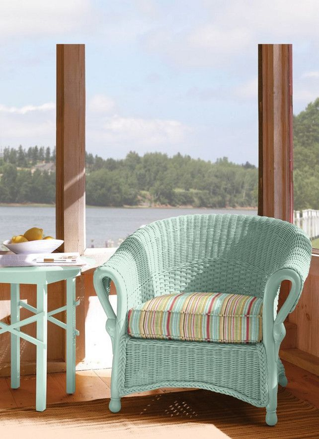 Paint It Inspiration   Wicker Furniture From: Maine Cottage