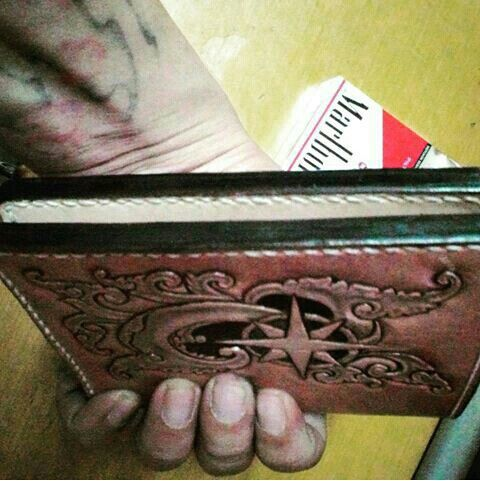 Hanmade leather wallet