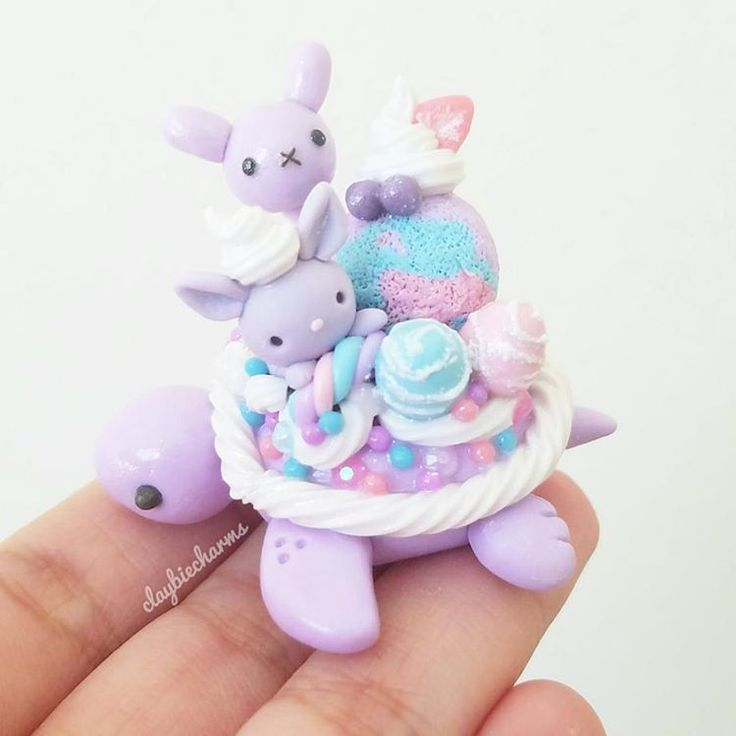 "2,665 Likes, 34 Comments - Janice M. (@claybiecharms) on Instagram: ""Edit: Sold out Three more assorted bunny dessurtles up for adoption today! Which one is your…"""