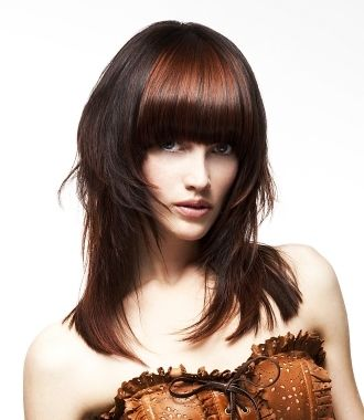 two toned layered hairstyles, two toned hairstyles, colored layered