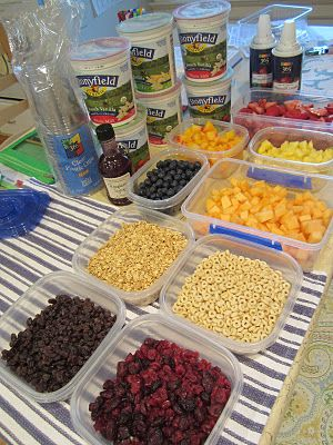 Playdate Snack - Make Your Own Yogurt Parfait bar