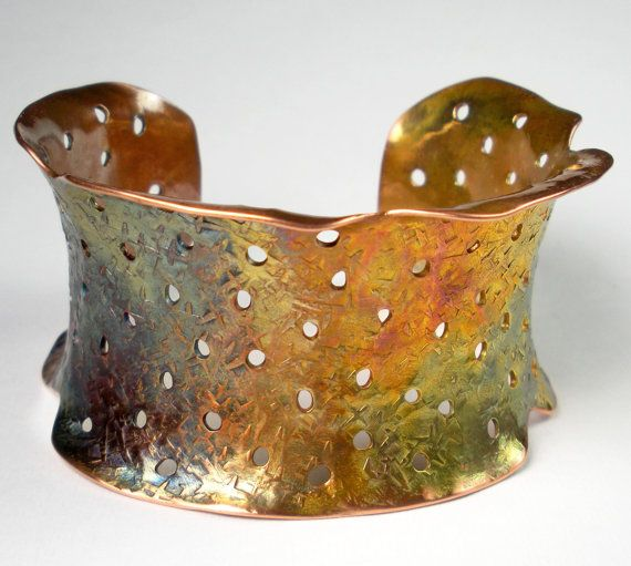 Hammered Copper Cuff Anticlastic Copper Cuff by FebraRose on Etsy