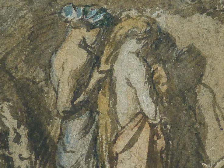 CHASSERIAU Théodore,1840 - Diane et Actéon, Etude - Détail 05