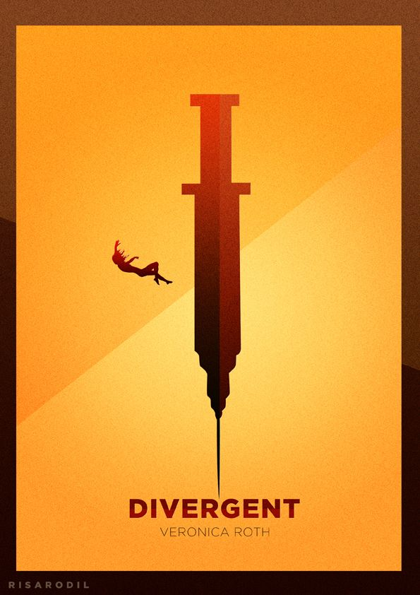 Minimalist Book Cover Quote : Divergent minimalist posters by risa rodil via behance