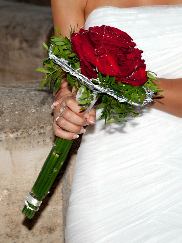 Ramo de novia rosmelia roja