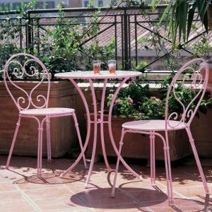 antique bistro set | ... bistro to your backyard or patio with the emu pigalle bistro set