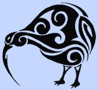 Kiwi created with Maori design