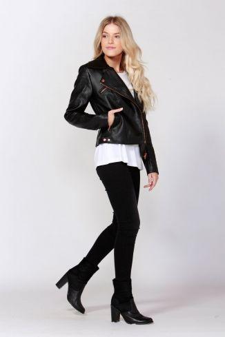 Sass - Biker Rose Jacket - Biker - Frockaholics / Online Shopping / Clothes Online / Shoes Online / Accessories Online