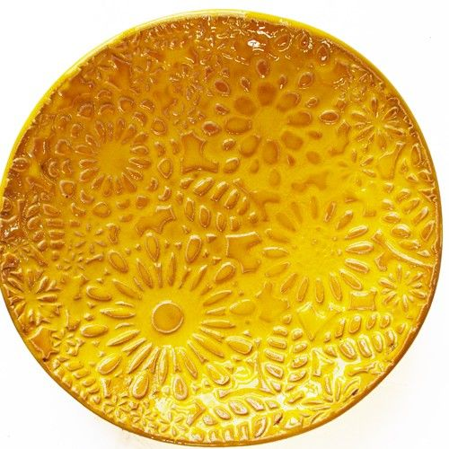 misy, patery i talerze - ceramiczne-słonecznie i kwieciście