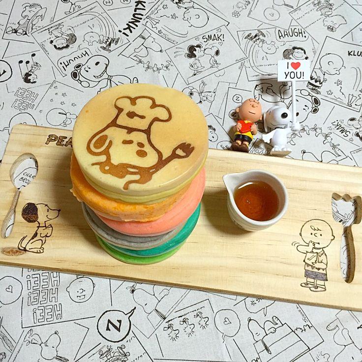 お絵描きレインボーパンケーキ