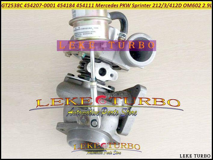 GT2538C 454207-5001S 454207 454184 454111 6020960899 Turbo For Mercede Benz PKW Sprinter 212 312D 412D 210D 310D 410D OM602 2.9L #Affiliate