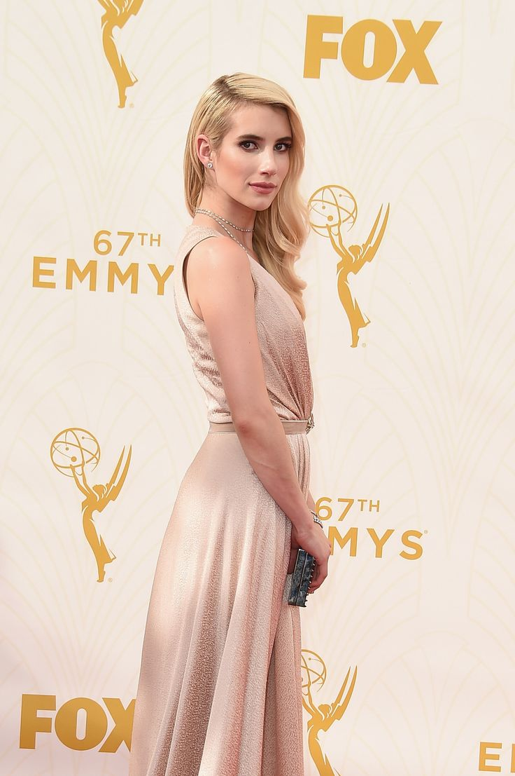 """""""Emma Roberts attends the 67th Annual Primetime Emmy Awards at Microsoft Theater on September 20, 2015 in Los Angeles, California. """""""