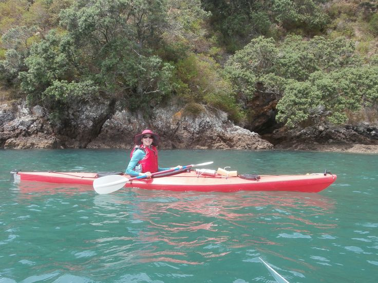 Paddling just off Motuaroa Island, Bay of Islands New Zealand.