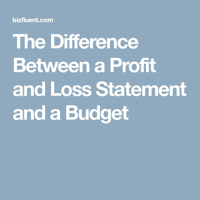 The Difference Between a Profit and Loss Statement and a Budget
