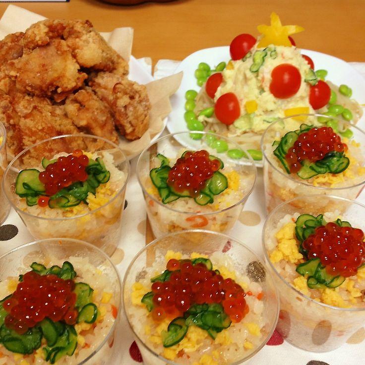 カップちらし寿司 パーティメニュー | ペコリ by Ameba - 手作り料理写真と簡単レシピでつながるコミュニティ -
