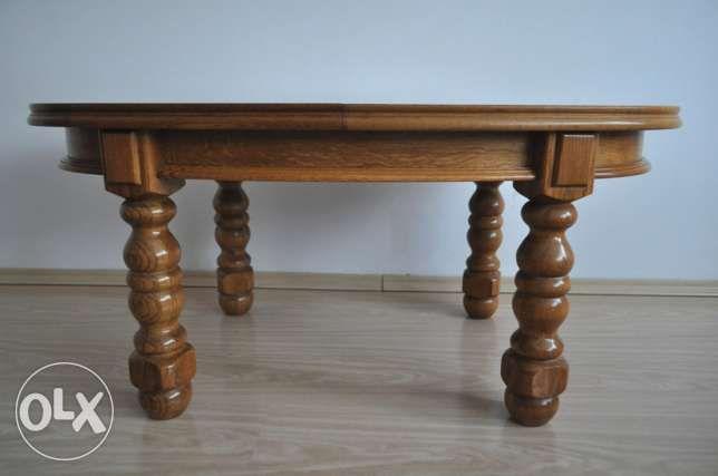 STOLIK kawowy stół ŁAWA rozkładany dębowy retro Wejherowo - image 3