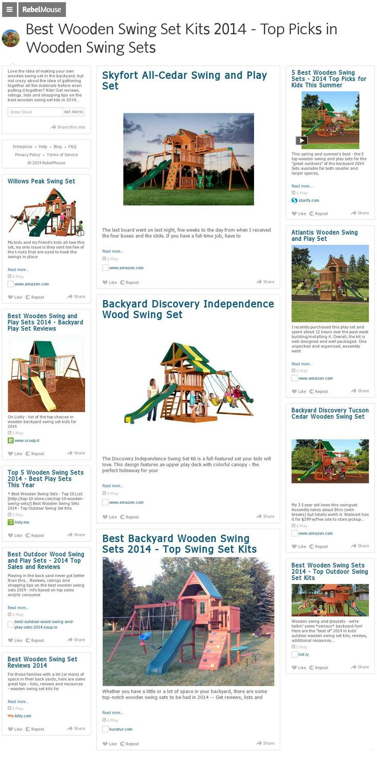 11 best best wooden swing sets and kits 2014 top sales and