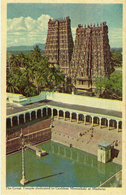 Heritage of India: Madurai Meenakshi Temple vintage postcards