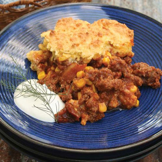 Homemade Elk Recipe: Skillet Cornbread Casserole - from Cooking Fish & Game, posted by GRIT Magazine