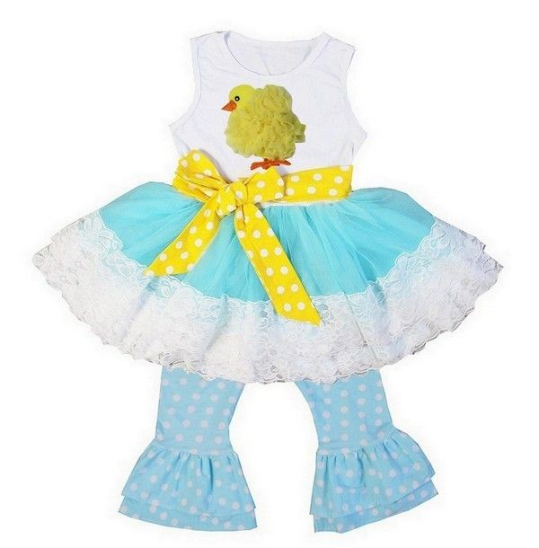 LITTLE CHICK PANT SET Price: $44.99, Free Shipping Options: 1/2T, 3/4T, 5/7 click to purchase