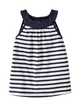 Banded tank- white floral/ turquoise stripe/ milk/ navy and white stripe- Gap kids- baby girl