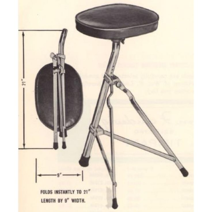Ludwig Drum Stool by Ludwig Throne For Sale