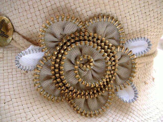 DIY Broche de flor de cremallera