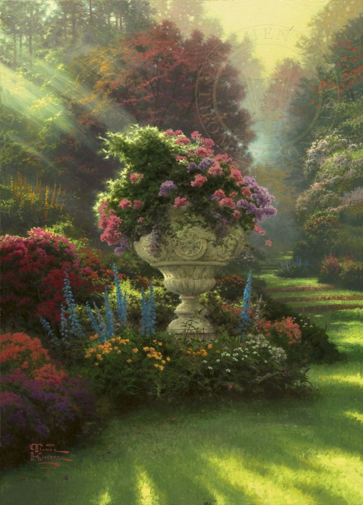 Unbounded inspiration for a true jigsaw puzzle lover - in this art work by Thomas Kinkade