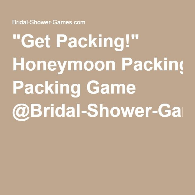 """Get Packing!"" Honeymoon Packing Game @Bridal-Shower-Games.com"