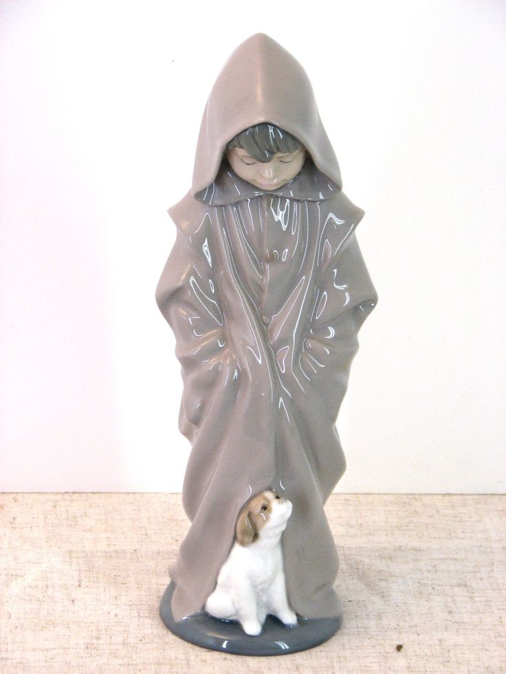 "NAO Lladro ""Young Boy With Dog"" 1982 Porcelain Figurine Mint Condition - pinned by pin4etsy.com"