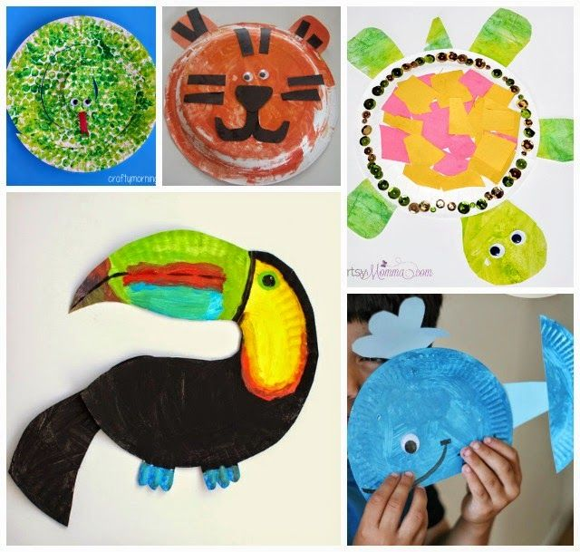 1337 best paper plate crafts for children can make. images