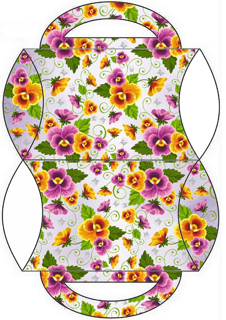 A printable pansy pillow box.  This would be cute to hold a party favour.