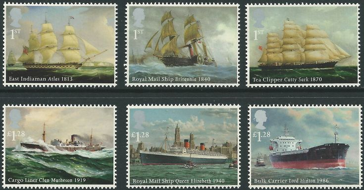 The 2013 set of Merchant Navy Ships