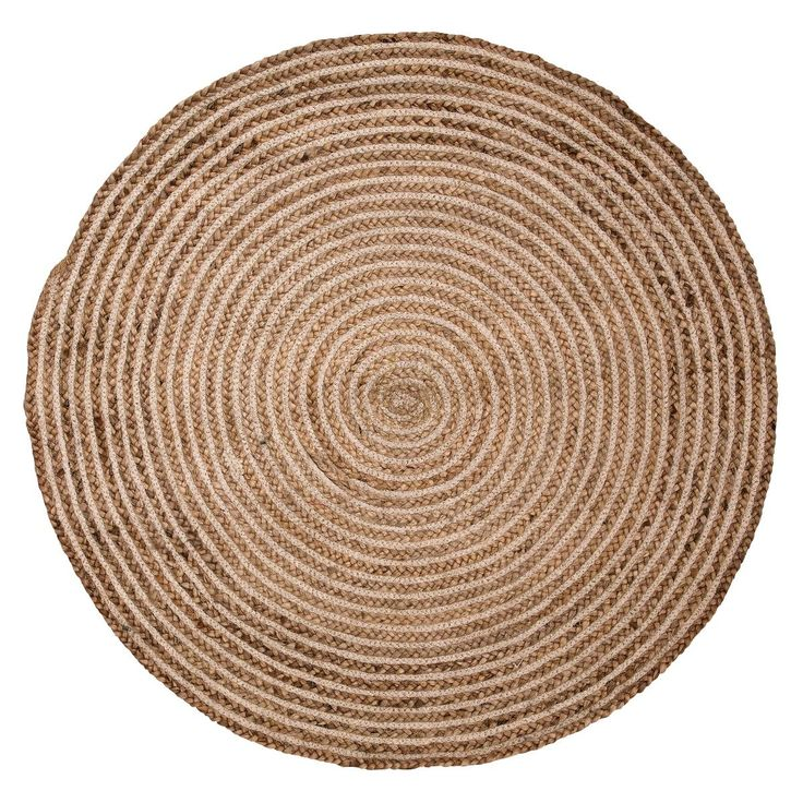 Round Natural Braided Rug