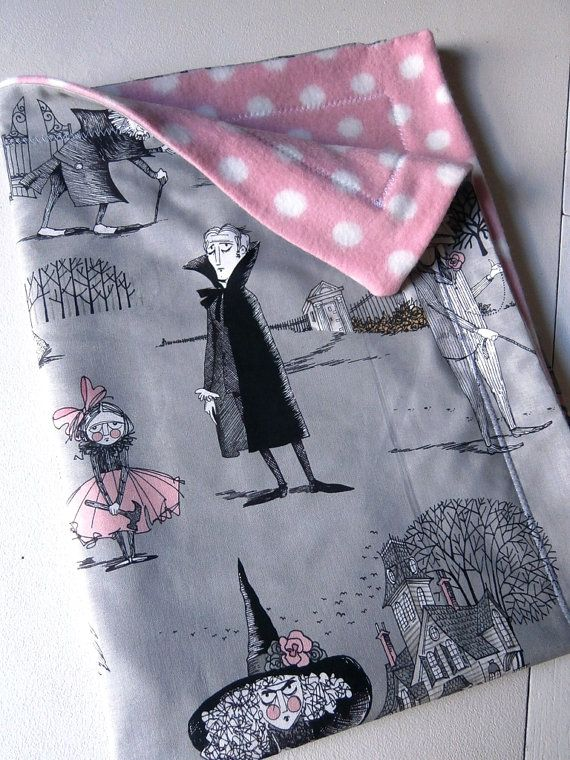 The Ghastlies spooky baby toddler Blanket for by carouselbelle, $30.00