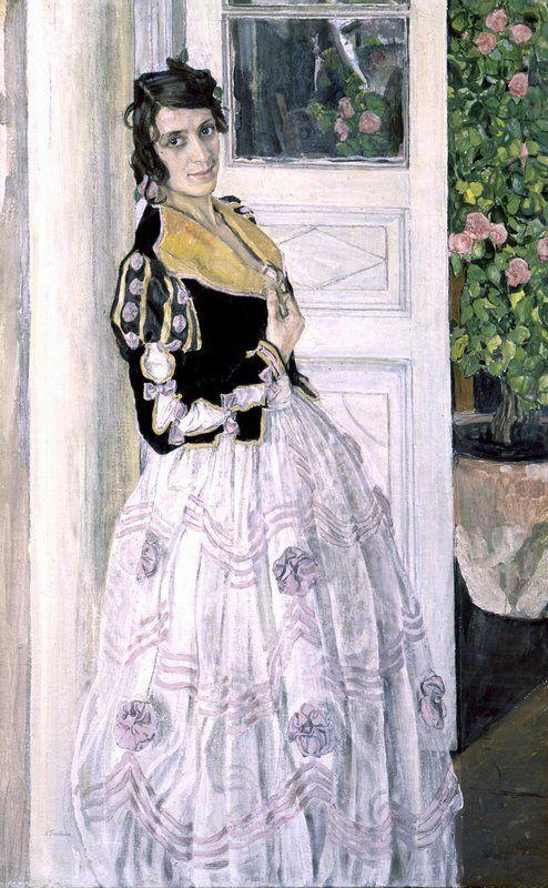 Aleksandr Golovin (Russian, 1863-1930) - Spanish Woman on the Balcony / Александр Головин - Испанка на балконе, 1911