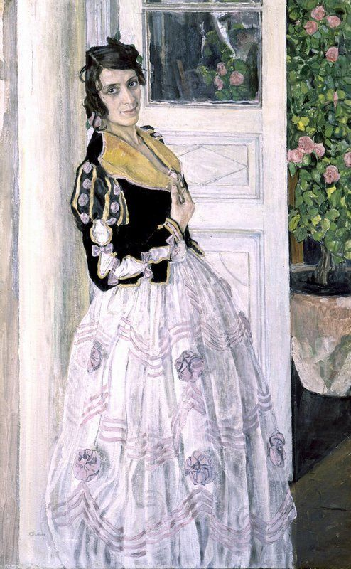 Aleksandr Golovin (Russian, 1863-1930) - Spanish Woman on the Balcony / Александр Головин - Испанка на балконе, 1911