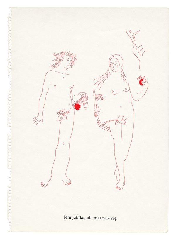 Eat apples to anger Putin. Igor Kubik drawings
