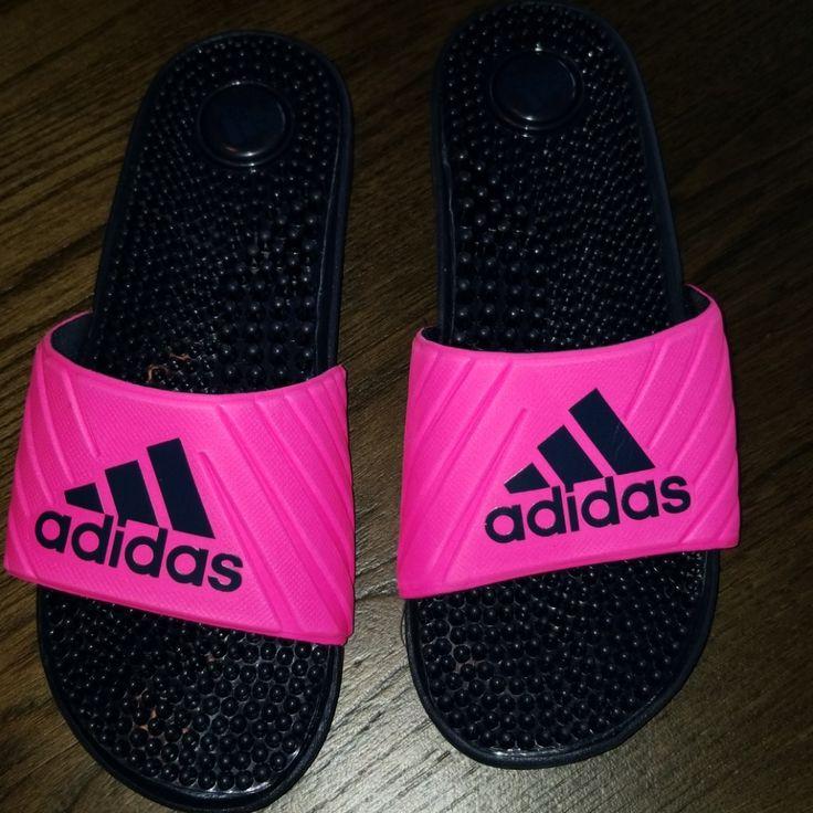 adidas Shoes New Adidas Slides Color Black/Pink