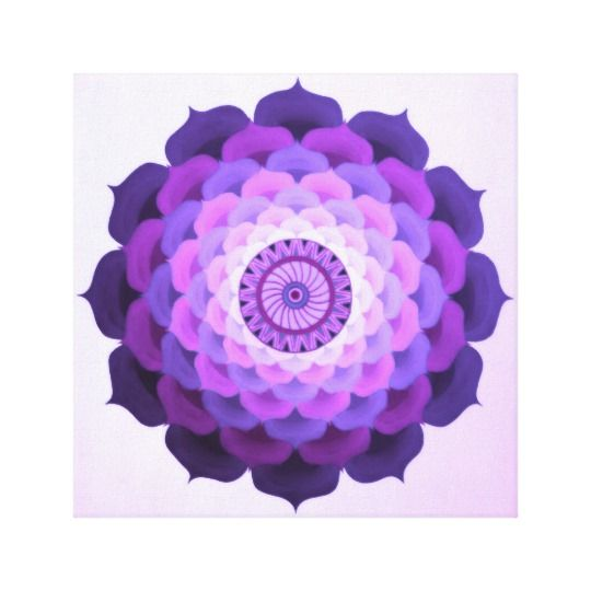Mandala wall art is trendy, hip and relaxing to look at.  In fact mandala home decor is becoming increasingly popular.  Great for bedrooms, living rooms and offices as it promotes relaxation while sparking creativity.  Great for inspiration mandala wall art is truly the epitome of hypnotic.  Especially great for a meditation room or bathroom. Violet rose mandala canvas print