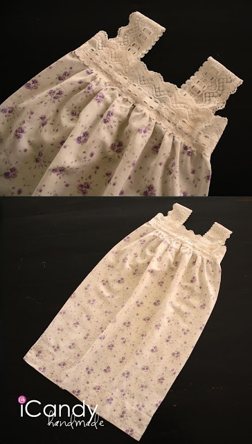Easy pillow case night gown -- lace + pillow case = super cute nighty!