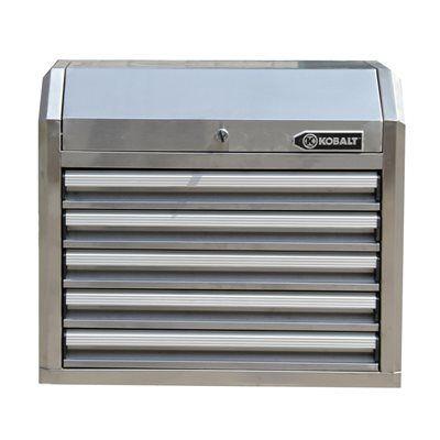 Kobalt 5-Drawer Stainless Steel Top Tool Chest
