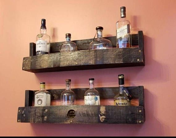 In Looking For A Unique Way To Display My Bourbon Collection I Wasnt Able To Find Anything That Suited My Taste So I Barrel Stave Whiskey Barrel Barrel Decor