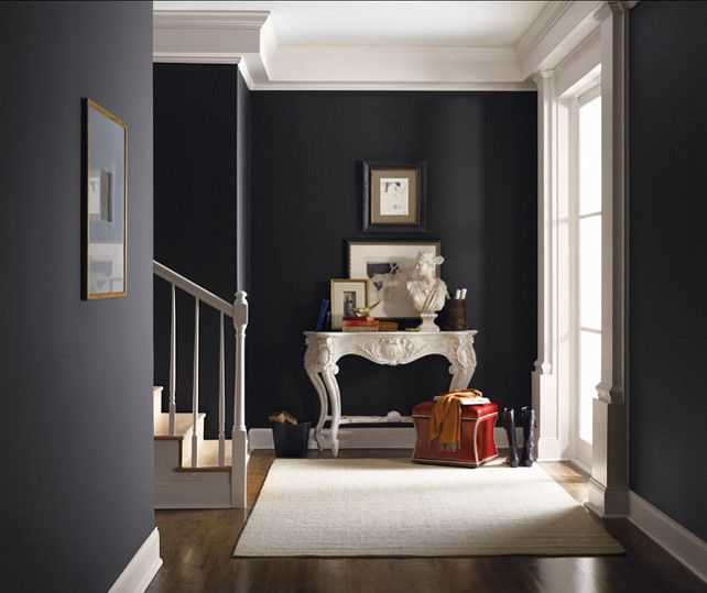 Black Painted Wall 667 best colors: gray to black images on pinterest | paint colours