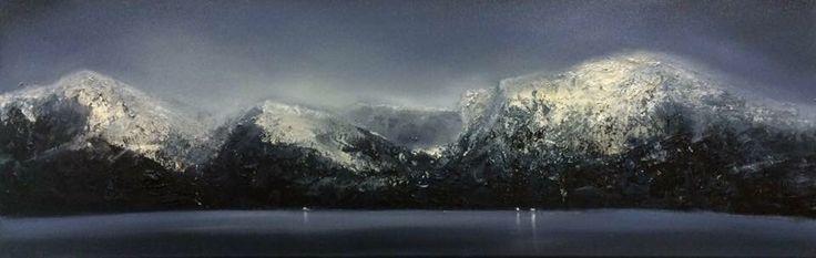 Igor Meyer. Oil on canvas. 30x90 cm. 2015.