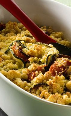 Crumble tomates courgettes                                                                                                                                                     Plus